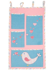 Turquaz Love Bird Hanging Pockets