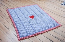 Turquaz Blue Amish Play Quilt