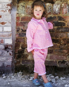 Turquaz Children's Pink Spotty Pyjamas